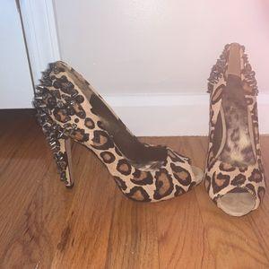 Sam Edelman Leopard and Spike Heels